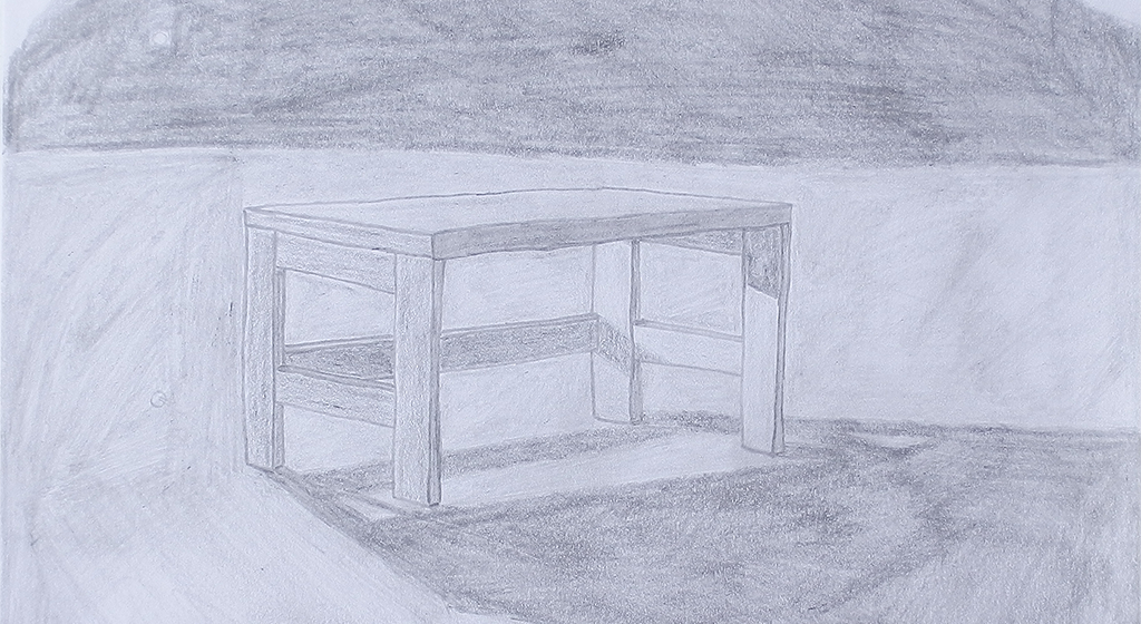 Pencil drawn table