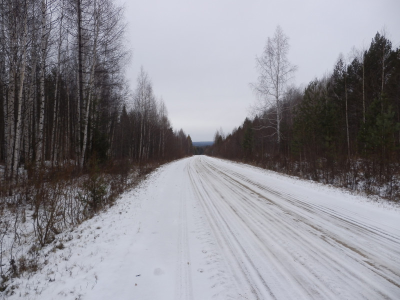 Road from Azov mountain to clay