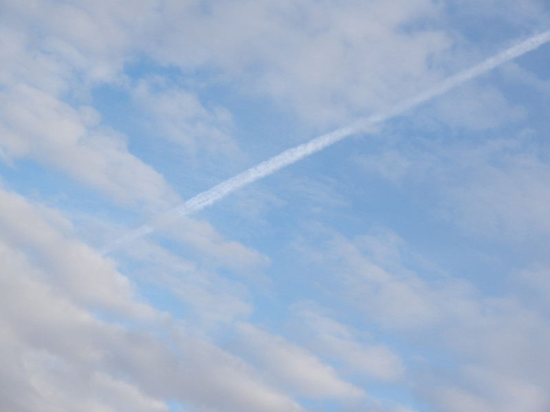 Sky with plane trace