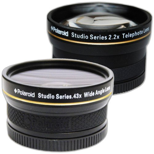 Attachment lens for photo-objective lens Polaroid Studio Series .43x High Definition Wide Angle Lens With Macro