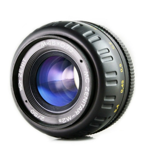 Standard photo lens Zenitar 50mm f/2