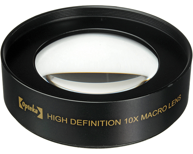 Photo-objective lens attachment Opteka 10x High Definition II Professional Macro Lens