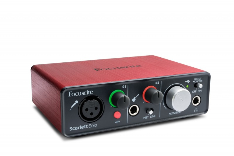 External studio sound card Focusrite Scarlett Solo