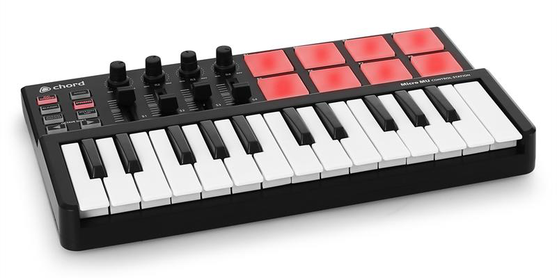 chord micro mu control station mini midi keyboard with maxi functions imagination works. Black Bedroom Furniture Sets. Home Design Ideas