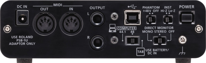 External sound card Roland DUO-CAPTURE EX ( back panel )