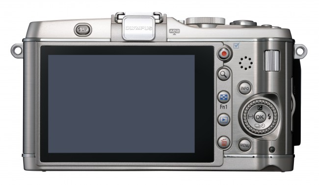 Compact photo-camera Olympus PEN E-P3 ( rear view )
