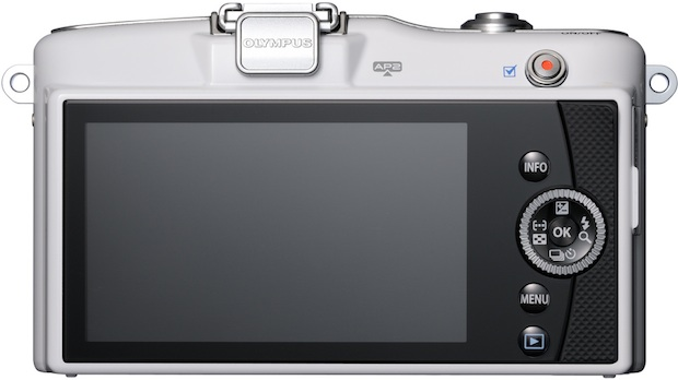 Photo-camera Olympus PEN E-PM1 ( rear view )