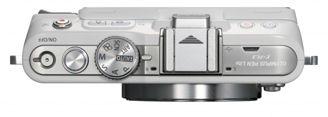 Photo camera Olympus PEN E-PL3 ( top view )