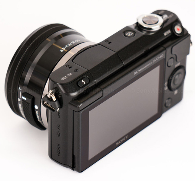 Photo camera Sony Alpha NEX-3N ( rear view )