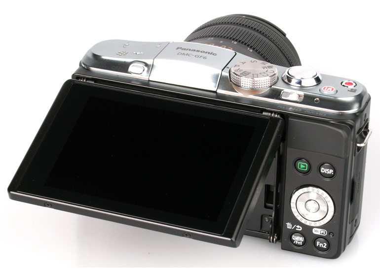 Photo camera Panasonic Lumix DMC-GF6 ( rear view )