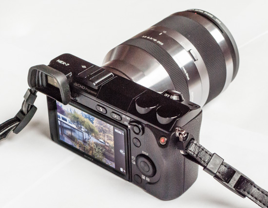Photo-camera Sony Alpha NEX-7 ( rear view )