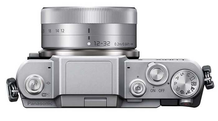 Photo camera Panasonic Lumix DMC GF7 ( top view )