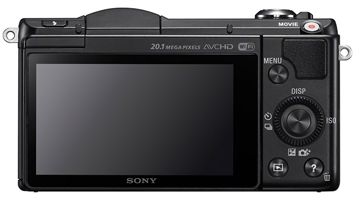 Photo camera Sony Alpha A5000 ( rear view )