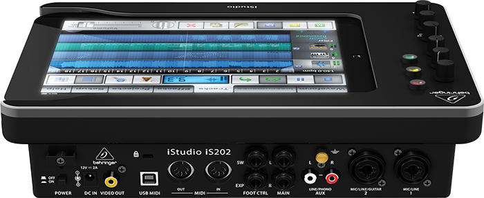 Behringer iStudio iS202 - док-станция для iPad ( вид сзади )