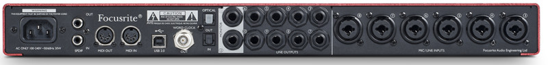 USB audio interface Focusrite Scarlett 18i20 ( back panel )