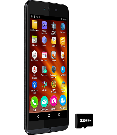 Micromax Q338 smartphone ( side view )