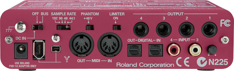 Firewire audio interface Roland FA-66 ( back panel )