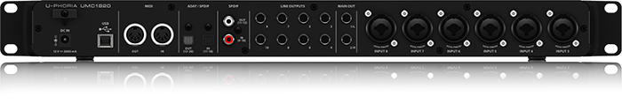 USB audio interface Behringer U-PHORIA UMC1820 ( back panel )