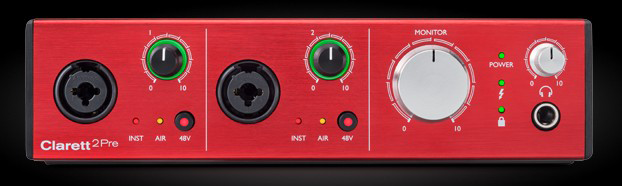 Thunderbolt audio interface Focusrite Clarett 2Pre