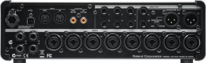 USB audio interface Roland STUDIO-CAPTURE ( back panel )