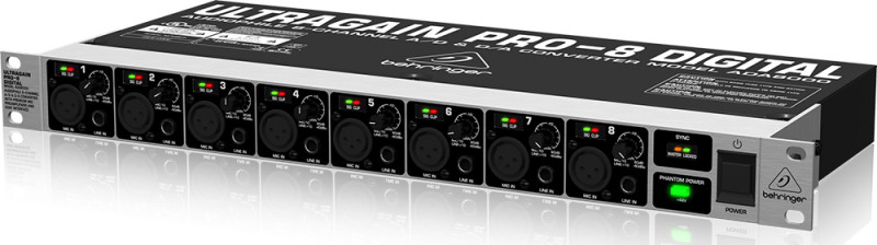 ADAT audio interface Behringer ULTRAGAIN PRO-8 DIGITAL ADA8000