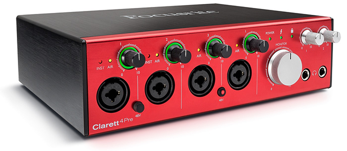 Thunderbolt audio interface Focusrite Clarett 4Pre