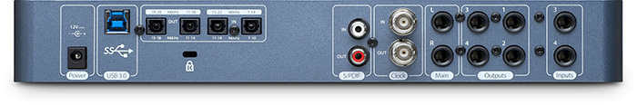 USB 3.0 audio interface PreSonus Studio 192 Mobile ( back panel )
