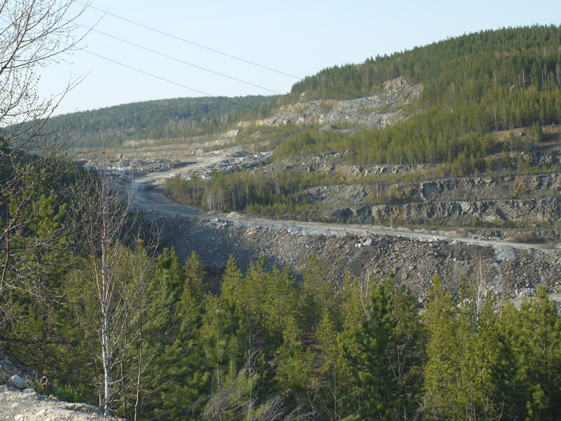 Quarry near Cheremshanka village after competitions
