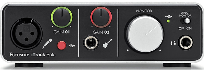 USB audio interface Focusrite iTrack Solo