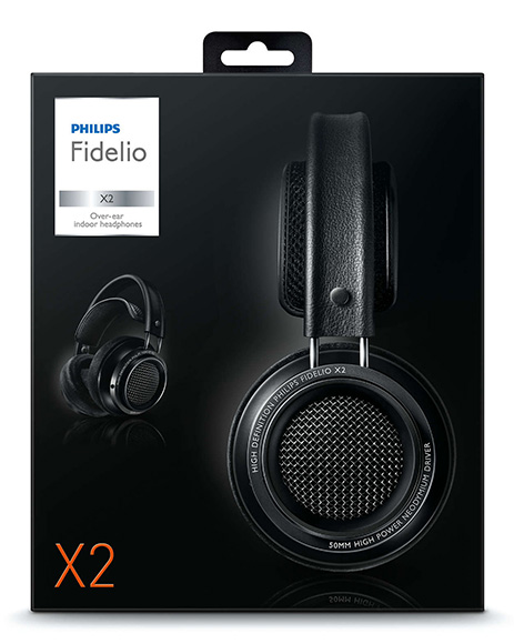 Monitor headphones Philips Fidelio X2 package